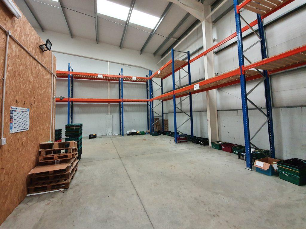 Loveworks foodbank new food storage warehouse